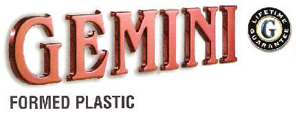 gemini is the top manufacturer of architectural lettering providing attractive and durable sign letters that come with
